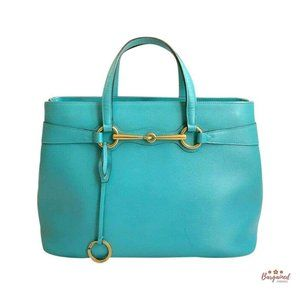 Authentic GUCCI Calfskin Bright Bit Top Handle Bag